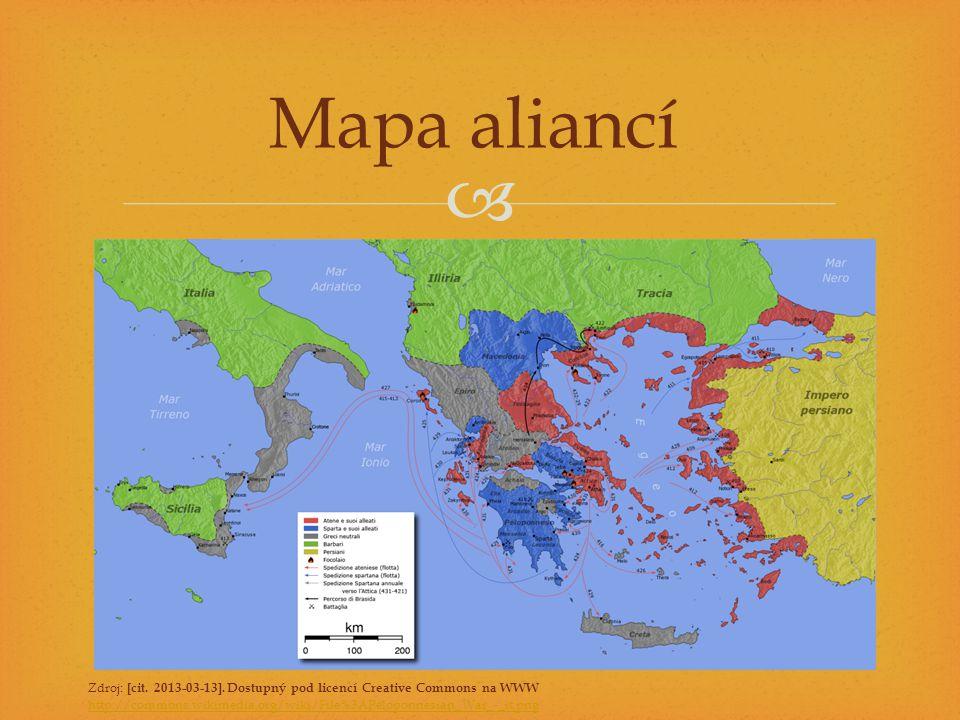 Mapa aliancí Zdroj: [cit. 2013-03-13]. Dostupný pod licencí Creative Commons na WWW.